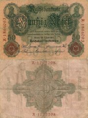Germany 50 Mark Banknote, 1907, P-29