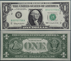 United States 1 Dollar Banknote, 1963, P-443ab