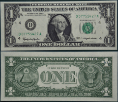United States 1 Dollar Banknote, 1963, P-443aD