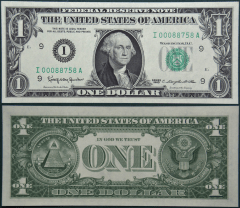 United States 1 Dollar Banknote, 1963, P-443aI