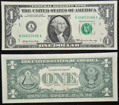 United States 1 Dollar Banknote, 1969, P-443BA