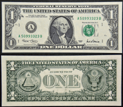 United States 1 Dollar Banknote, 2001, P-509