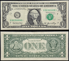 United States 1 Dollar Banknote, 2006, P-523ar