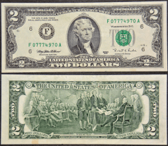 United States 2 Dollars Banknote, 1995, P-497