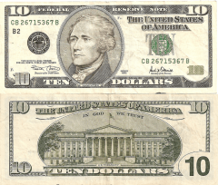 United States 10 Dollars Banknote, 2001, P-511
