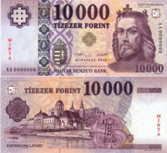 Hungary 10,000 Forint Banknote, 2014, P-201