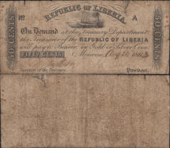 50 cents Liberia's Banknote