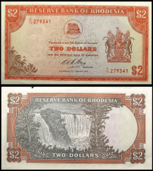 2 Dollars Southern Rhodesia's Banknote