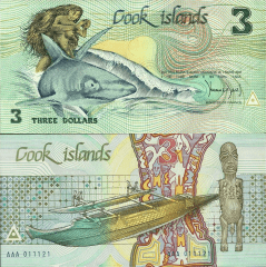 Cook Islands 3 Dollars Banknote, 1987, P-3a