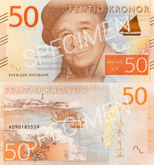 Sweden 50 Kronor Banknote, 2015, P-70s