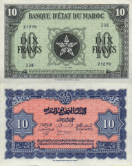 10 Francs Morocco's Banknote
