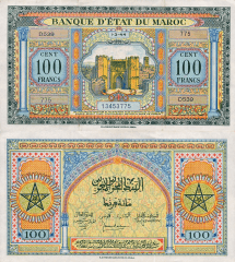 100 Francs Morocco's Banknote