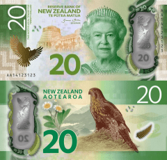 New Zealand 20 Dollars Banknote, 2016, P-193