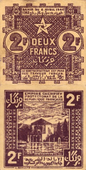 2 Francs Morocco's Banknote