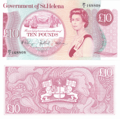St. Helena 10 Pounds Banknote, 1979, P-8a