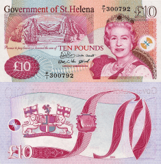 St. Helena 10 Pounds Banknote, 2004, P-12a