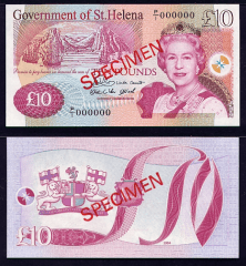 St. Helena 10 Pounds Banknote, 2004, P-12s