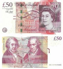 Great Britain/England 50 Pounds Banknote, 2015, P-393b