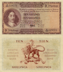 10 Shilling South Africa's Banknote