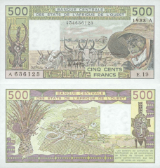 500 Francs West African States's Banknote