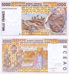 1,000 (1000) Francs West African States's Banknote