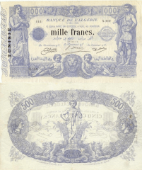 1,000 Francs Tunisia's Banknote