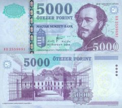 Hungary 5,000 Forint Banknote, 2008, P-199a