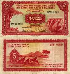 5 Pounds South West Africa's Banknote