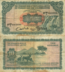 10 Shilling South West Africa's Banknote