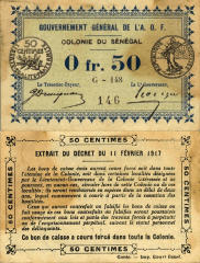 50 Centime Senegal's Banknote