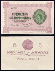 5 Rupees Seychelles's Banknote