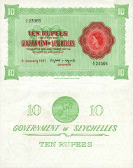 10 Rupees Seychelles's Banknote