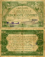 50 Centime French Pacific Territories's Banknote