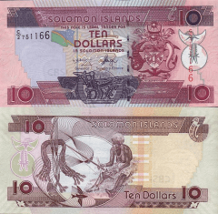 Solomon Islands 10 Dollars Banknote, 2004, P-27