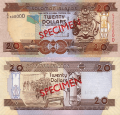 Solomon Islands 20 Dollars Banknote, 2004, P-28s