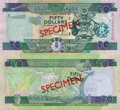 Solomon Islands 50 Dollars Banknote, 2004, P-29s