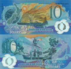 10 Dollars New Zealand's Banknote
