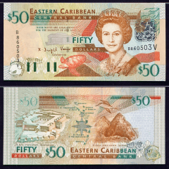 East Caribbean States 50 Dollars Banknote, 2003, P-45v