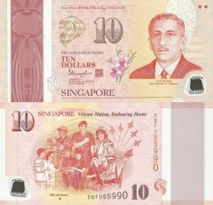 Singapore 10 Dollars Banknote, 2015, P-59a