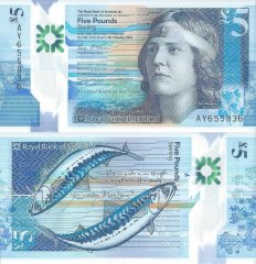 Scotland 5 Pounds Sterling Banknote, 2016, P-370a