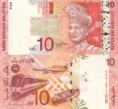 Malaysia 10 Ringgit Banknote, 2004, P-46