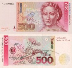 Germany/Federal Republic 500 Deutsche Mark Banknote, 1991, P-43ar