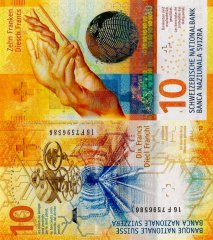 Switzerland 10 Francs Banknote, 2016, P-75a.3