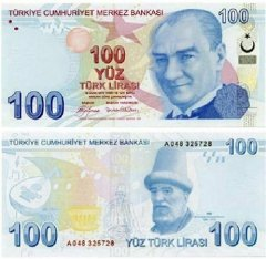 100 Turkish Lira Turkey's Banknote