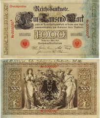 Germany 1,000 Mark Banknote, 1895, P-17