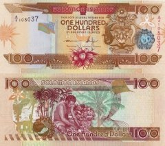 Solomon Islands 100 Dollars Banknote, 2011, P-30a.3