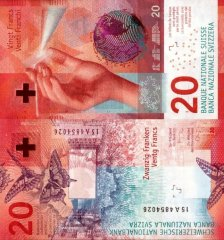 Switzerland 20 Francs Banknote, 2015, P-76c