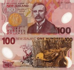 New Zealand 100 Dollars Banknote, 2008, P-189b.3