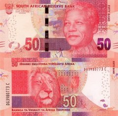 South Africa 50 Rand Banknote, 2014, P-140a