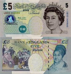 Great Britain/England 5 Pounds Banknote, 2002, P-391b
